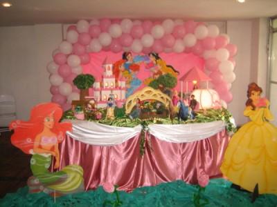 decoração das princesas para festa infantil 2 Decoração Das Princesas Para Festa Infantil