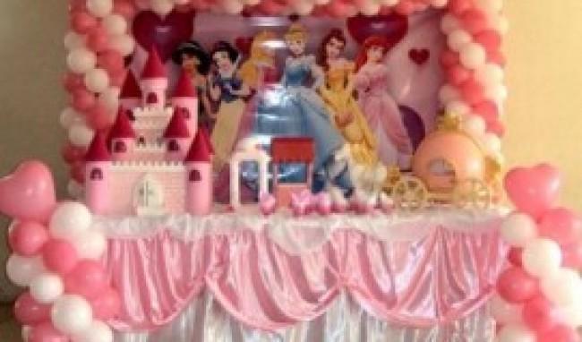 decoração das princesas para festa infantil 3 Decoração Das Princesas Para Festa Infantil