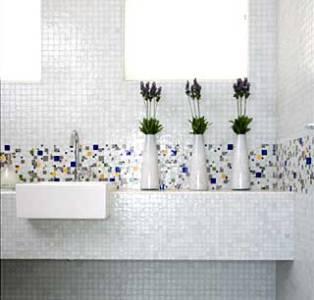 lavabos com pastilhas de vidro fotos 1 Lavabos Com Pastilhas De Vidro, Fotos