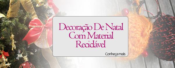 materialreciclado Decoração De Natal Com Material Reciclável