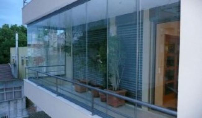 varandas de vidro Casas com Varandas de Vidro Fotos