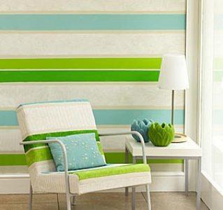 decoração em paredes com listras dicas fotos 1 Decoração em Paredes Com Listras, Dicas Fotos