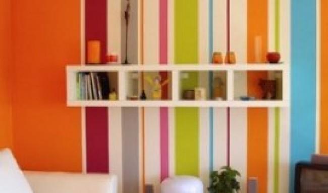 decoração em paredes com listras dicas fotos 2 Decoração em Paredes Com Listras, Dicas Fotos