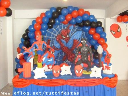 decoracao de festa infantil do homem aranha Decoração de festa infantil do Homem Aranha