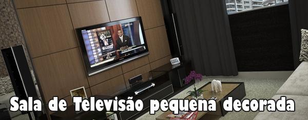 Sala De Televisao Pequena Decorada ~  de televisao pequena decorada1 Sala de televisão pequena decorada