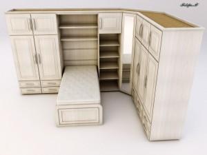 Cama e armario 300x225 Armário com Cama de Solteiro Embutida, Preços