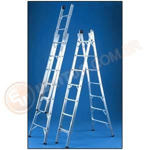 cod5188 Escadas de Aluminio Articulada, Preços