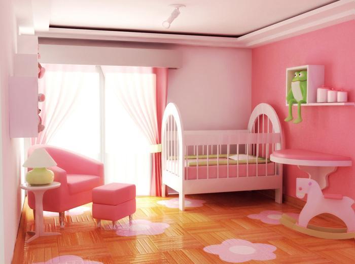 quarto de bebe feminino completo 300x223 Quarto de Bebê Feminino