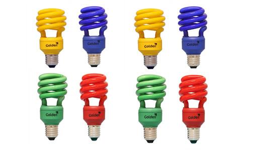 casa10 Decoração com Lâmpadas Coloridas