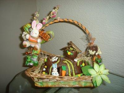 cesta de pascoa artesanal Cesta De Páscoa Artesanal