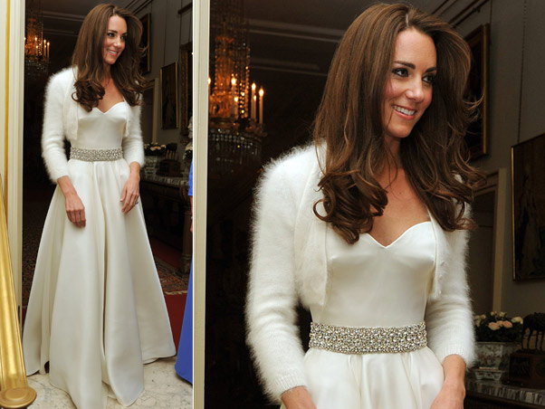 decoracao do casamento de kate middleton : decoracao do casamento de kate middleton:Kate Middleton Wedding Reception Dress