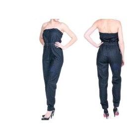 Macacão Jeans Feminino Sawary 2 Macacão Jeans Feminino Sawary