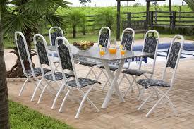 Mesa de granito com 8 cadeiras1 Mesa de Granito Com 8 Cadeiras
