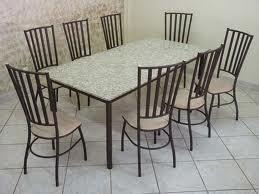 Mesa de granito com 8 cadeiras2 Mesa de Granito Com 8 Cadeiras