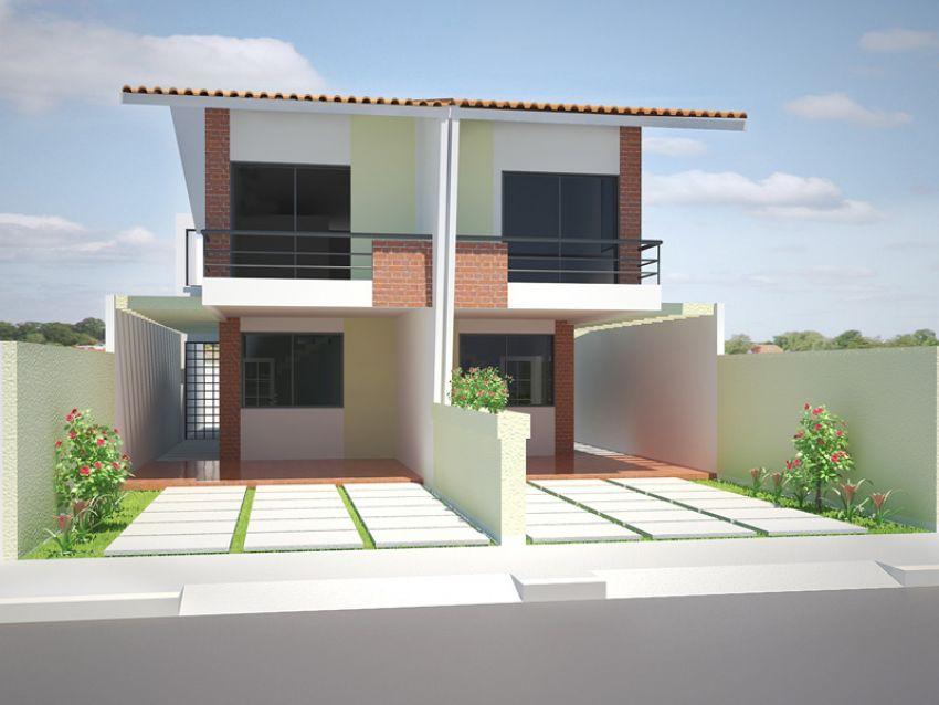 Projetos de casas populares geminadas for Casa moderna 7x20