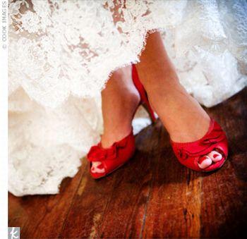 Sapatos Vermelhos para Noivas Dicas Sapatos Vermelhos para Noivas Dicas