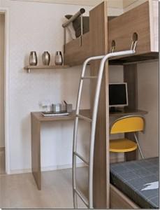 beliche com escrivaninha madeira 229x300 Beliche com Escrivaninha Embutida