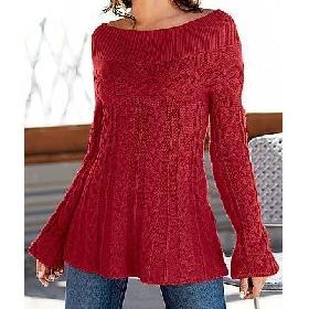 blusa de lã feminina vermelha1 Modelos de Blusas Inverno 2011