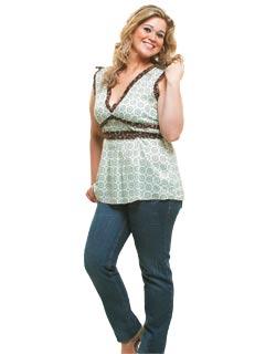 blusa decoteV gordinha Batas Femininas Tamanho Grande