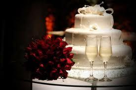 bolo com champagne Sugestão de Cardápio para Casamento