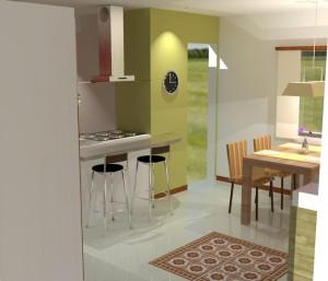 casa pequena 3 300x257 Decoração de Interiores de Casas Pequenas