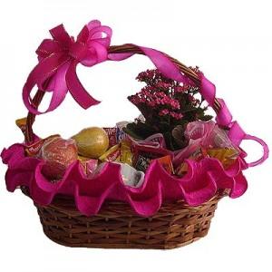 cesta de café da manhã 2 300x300 Cesta de Páscoa Decorada   Dicas