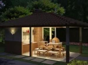 churrasqueira1 300x224 Projetos de Quiosques Residenciais