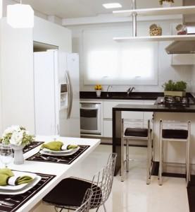 como decorar cozinha pequena 1 277x300 Como Decorar Cozinha Pequena