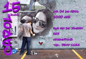 convite de 15 anos personalizado 605021 300x207 Convites de Aniversário de 15 Anos, Fotos