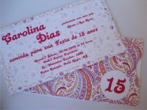 convites de 15 anos modelo 15 anos bandana1 300x225 Convites de Aniversário de 15 Anos, Fotos