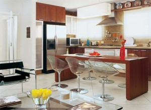 cozinhasintegradas 10 300x219 Cozinha Americana com Bancada, Fotos