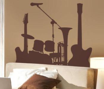 decoração com instrumentos musicais 3 Decoração Com Instrumentos Musicais