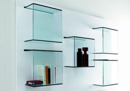 decoração com prateleiras de vidro 3 Decoração Com Prateleiras De Vidro