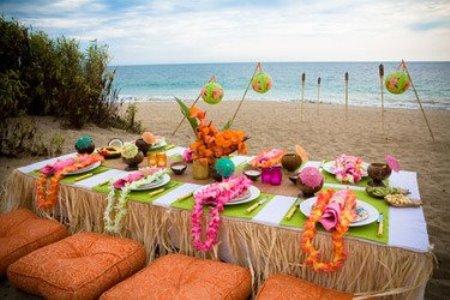 decora%C3%A7%C3%A3o de festa havaiana fotos 3 Reveillon na Praia   dicas de decoração