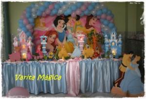 decoração mesa infantil 2 300x203 Decoração para Centro de Mesa de Festa Infantil