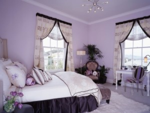 decoracao lilas para quarto juvenil 14 300x226 Cores Calmas Para Quarto