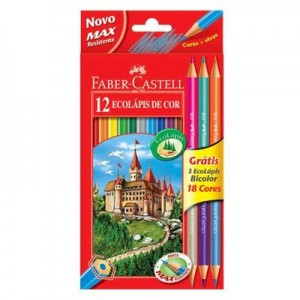 lápis de cor bicolor faber castell 2 300x300 Lápis de Cor Bicolor Faber Castell