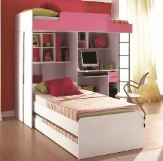 módulo cama Beliche com Escrivaninha Embutida