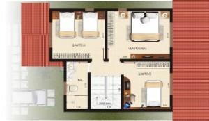 planta de casa com garagem11 300x174 Plantas de Casas Com Garagem