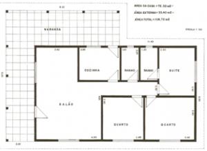 planta de casa com garagem41 300x218 Plantas de Casas Com Garagem