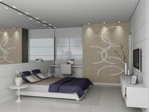 quarto do casal decorado1 300x225 Decoração de Dormitórios de Casal