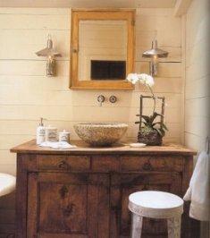 BANHEIRO 1 Banheiro Decorado em Estilo Rústico