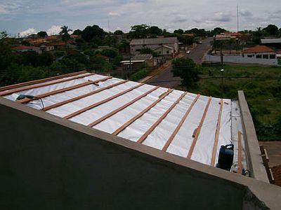 Isolamento termico telhado zinco