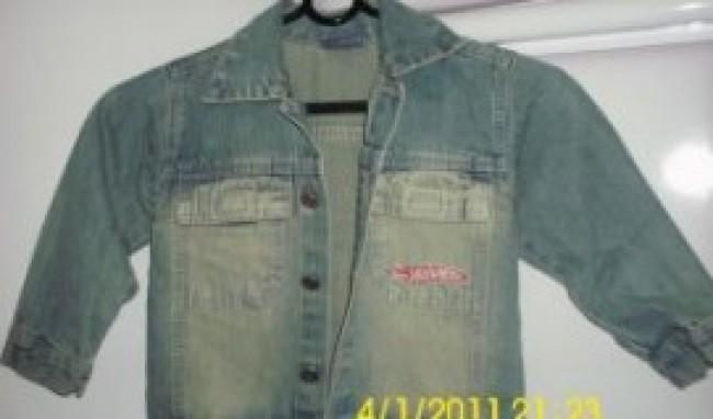 Jaqueta jeans infantil masculina1 Jaqueta Jeans Infantil Masculina