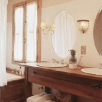 banheiro 5 Banheiro Decorado em Estilo Rústico