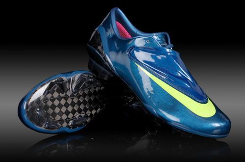 chuteira nike mercurial azul Chuteira Nike Mercurial