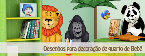desenhos para decoracao de quarto de bebe Desenhos para Decoração de Quarto de Bebê