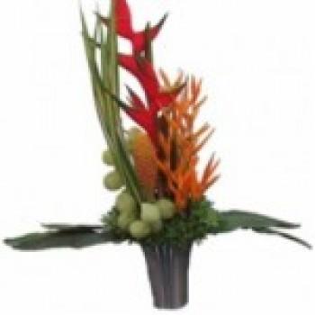 escritório Decoração com Flores Tropicais