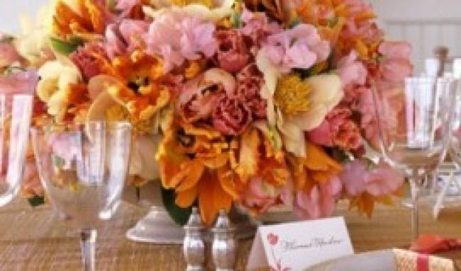 flores para decorar mesas 5 Flores Para Decorar Mesas