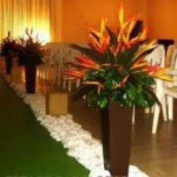 igreja Decoração com Flores Tropicais